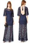 Womens Full Dress Lace Maxi lace Sundress Long Evening Party Cocktail dress hot