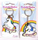Unicorn Keyring Fun Cute Slogan Enchanted Rainbows Stocking Filler
