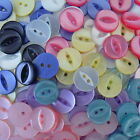 50 fisheye buttons 12mm 7 colours pink white purple...