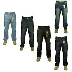 BNWT MENS NEW KING SIZE STRAIGHT LEG SMART CASUAL JEANS TROUSER ALL SIZES 30-60