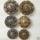 5 x Turks head buttons antique gold or silver sizes 15mm, 18mm or 23mm