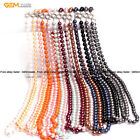 """10mm Shell Beads Healing Beaded Birthstone Princess Long Jewelry Necklaces 36"""""""