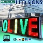 "OLIVE LED Sign 3Color RGY 15""x53"" PC Programmable Scroll. Message Display EMC"