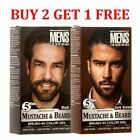 Men's Select Mustache and Beard Dye Black & Dark Brown Hair Color 5 Minute Gel