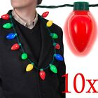 LED Light Up Christmas Bulb Necklace Party Favors for Adults