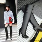 Womens Stilettos Buckle Over The Knee Boots Sexy Fashion Winter Thigh High Shoes