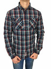 *SALE* Superdry Mens Winter Washbasket L/S Shirt in Ecosse Navy Check