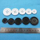 BLACK or WHITE ACRYLIC BUTTONS SEWING CRAFT HABERDASHERY DRESSMAKING