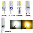 1/5/10X 3014 SMD G4 G9 LED Light Bulb Lamp Warm/Cool White Silicone Crystal US