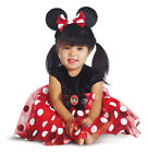 Minnie Mouse Infant Red Costume Cameo And Headband Fancy Dress Disguise