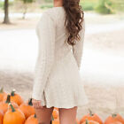 Womens Long Sleeve Knitwear Ladies Knitted Sweater Jumper Winter Dress Tops tb