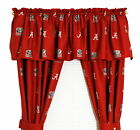Alabama Crimson Tide Curtains Drapes & Valance Set with Tie Backs