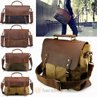 Vintage Style Men's Canvas Shoulder Casual School Military Messenger Travel Bag