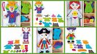 Clown Threading Dressing Doll Girl Thread Change Felt Clothes Dress Up Pirate