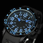 INFANTRY INFILTRATOR Mens Quartz Wrist Watch Military Army Sport Black Rubber US