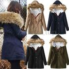 Women Winter Coat Fur Collar Long Warm Jacket Warm Outwears Hooded Slim Parka