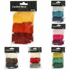Carded Wool packs 3 x 10g for needle felting