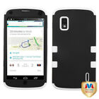 For LG Google Nexus 4 Hybrid TUFF IMPACT Phone Case Hard Rugged Cover <br/> IN-STOCK - FREE SHIPPING FROM THE USA - BEST SELLER!