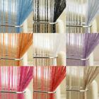 "GLAM STRING DOOR CURTAIN PANEL 37"" x 79"" GLITTER BLING VOILE PANEL CUT TO SIZE"