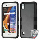 For LG Tribute HD LS676 X Style Hybrid TUFF IMPACT Phone Case Hard Rugged Cover