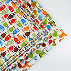 160x50cm Owl Cartoon cotton fabric patchwork quilt sewing DIY Cloth 5 Colors