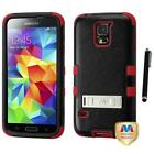 For Samsung Galaxy S5 Hybrid TUFF IMPACT Phone Case Hard Rugged Cover Stylus Pen