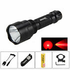 5000Lm XM-L Q5 Red LED C8 Tactical Flashlight Torch 18650 Light Remote Switch