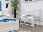 Baby cot white , drop side , wheels, cradle, bedside bed CO SLEEPER + mattress