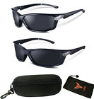 New Polarized Lenses Full Black Aggressive Looking Men Fishing Sports Sunglasses