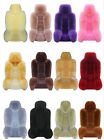 Genuine Australian Sheepskin Fur Car 2 Front Seat Covers Set Cushion Winter M12
