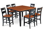 54* SQUARE COUNTER HEIGHT TABLE DINING ROOM SET W/. 18* BUTTERFLY LEAF
