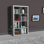 White/Black Bookcase Rack Display Unit 8Tier Storage Office Living Room