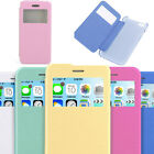 NEW Flip Leather View Window Clear Back Skin Case Cover for Apple IPhone 6 4.7 ""