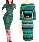 Women's Elegant striped belt office ladies work wear Casual pencil bodycon dress