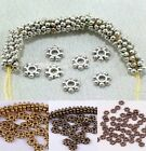 Wholesale 1000Pcs Tibetan Silver Daisy Spacer Beads Jewelry Making 4MM 6MM