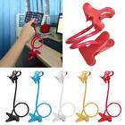 1x Lazy Mount Double V Clip Cell Phone Holder Clamp Flexible 360° Goose Neck MT