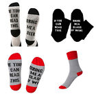 Unisex socks If You can read this Bring Me a Glass of Wine Beer Gray Red Black