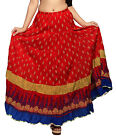 Carrel Imported Cotton Fabric Printed Long Length Skirt For Women. 3482