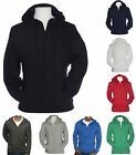 MEN'S LIGHTWEIGHT, UNLINED, ZIP UP, PRESHRUNK, T-SHIRT / BEACH HOODIE S-2XL 3XL