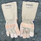 BRITISH ARMY SURPLUS HEXARMOR STEEL LEATHER 8 MILITARY DUTY CUT RESISTANT GLOVES