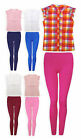 Girls Legging Set New Kids Sleeveless Cotton Shirt Leggings Outift Ages 2-5 Yrs