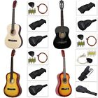 New Beginners Acoustic Guitar W/Guitar Case Strap Tuner Pick