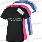 I Have an Allergy Socializing Idiots Funny T Shirt novelty gifts for Him or Her