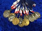 Football Man of the Match Club Tournament Metal Faceted Medal on Ribbon