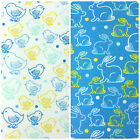 "100% Cotton Easter Themed Prints, Rabbits and Chicks 44"" Wide, Per Half Metre"