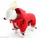 NEW DOG Fleece Jumpsuit One Piece (4 SM BREED) XS-LG Hoodie Pajamas Coat Red