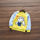 Kids Sweater Long Sleeve Baby Boys Cartoon Bunny T Shirts Tops Blouse Pullover