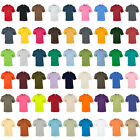 Mens Gildan Jersey Knit Taped Crew Neck Ultra Cotton Adult T-Shirts Size S-5XL