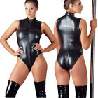 Cottelli Collection Wetlook Zip-Body Catsuit Overall schwarz Dessous S M L XL