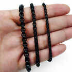 3/4/5mm Men Women Chain Box Link Black Tone Stainless Steel Necklace Gift Bag